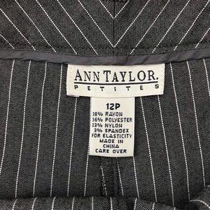 Ann Taylor Petite Striped Wide Leg Pants